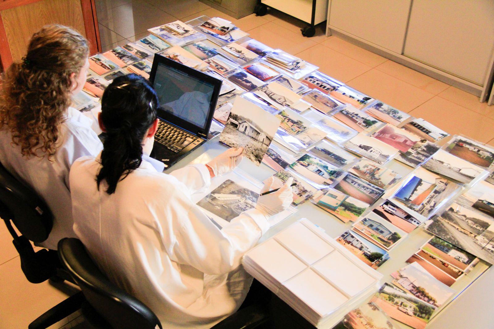 Organização do acervo fotográfico