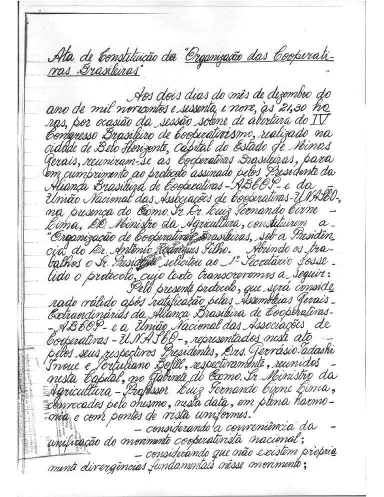 Constituição da OCB