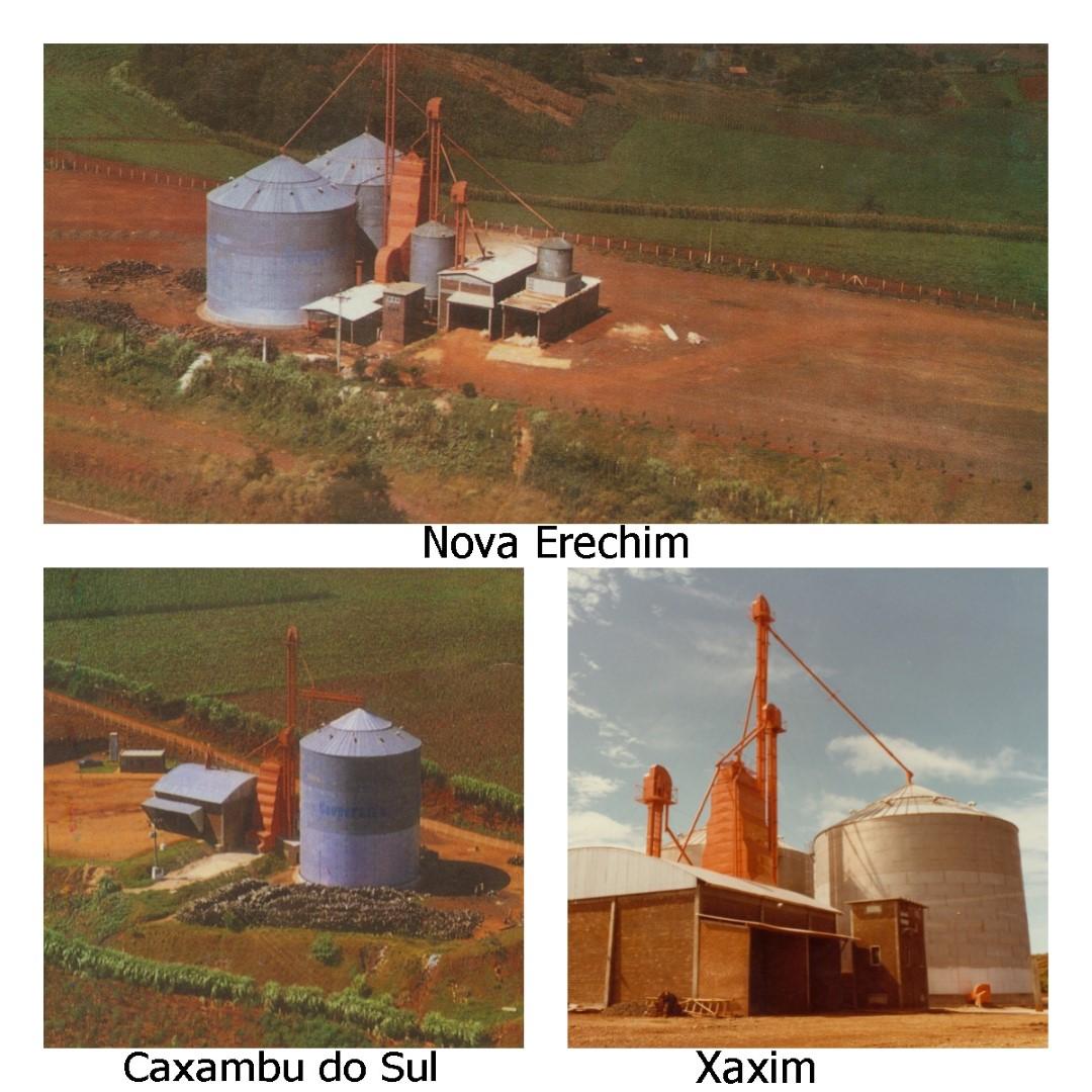 Silos metálicos para armazenar grãos