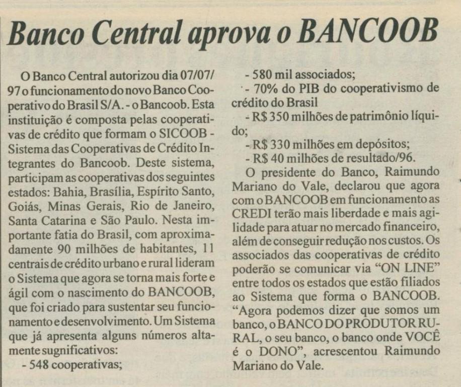 Criado o Bancoob