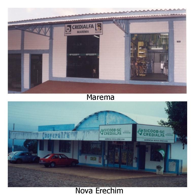 Agências em Marema e Nova Erechim