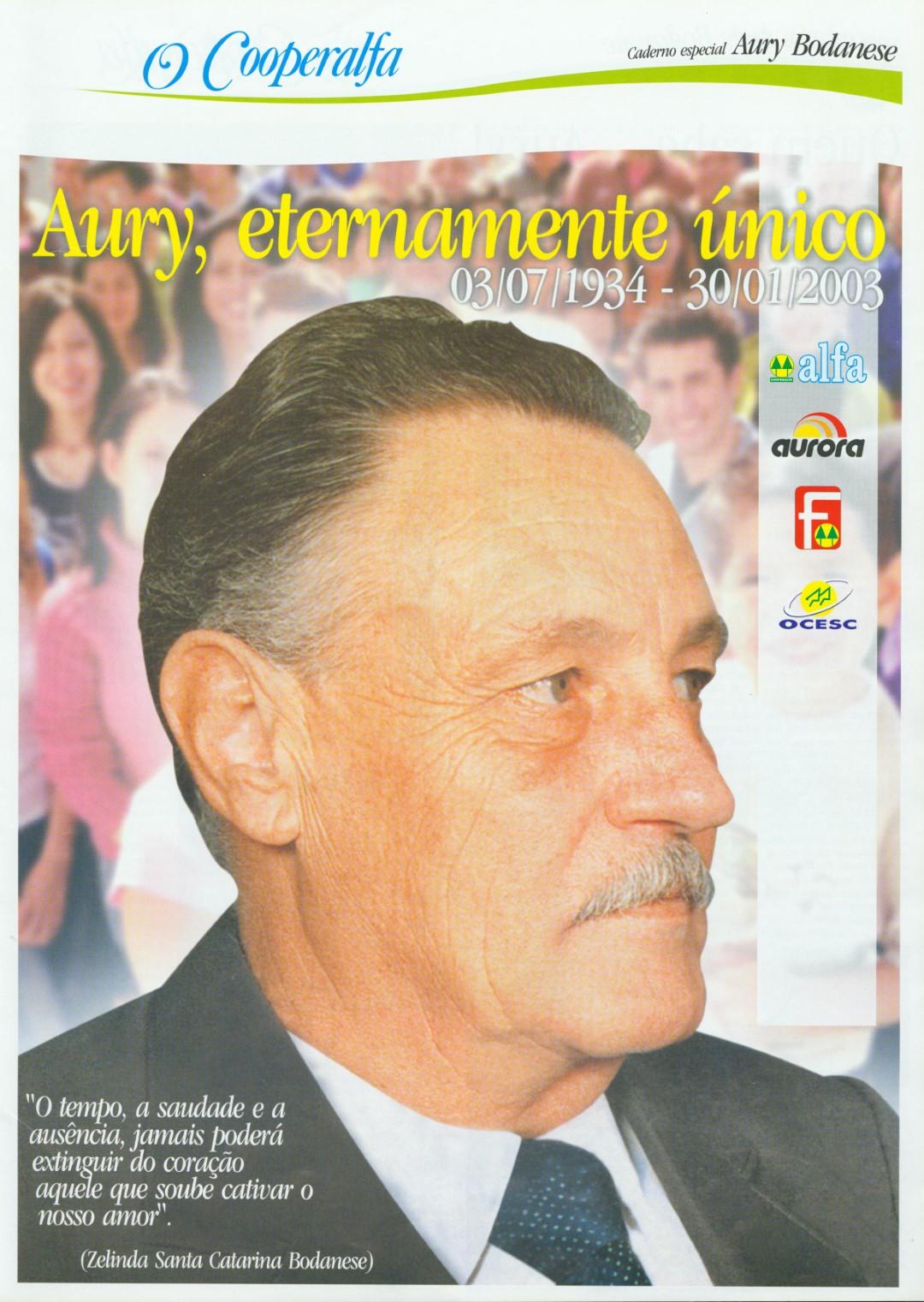 Morre Aury Luiz Bodanese