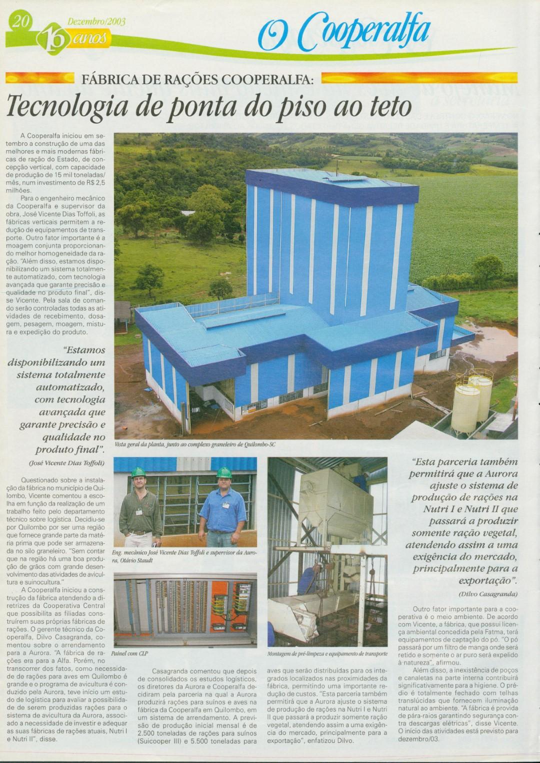 Fábrica de rações em Quilombo