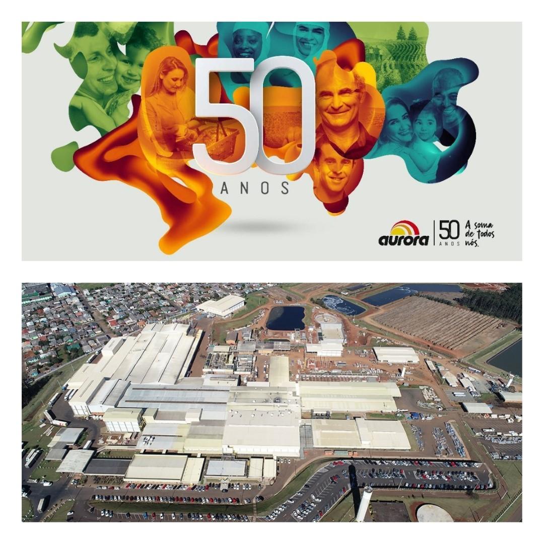 Aurora Completa 50 anos e inaugura o maior frigorífico de suínos do Brasil